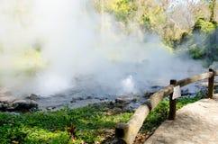 Hot Springs (Geysertyp), osedda Thailand Arkivbilder