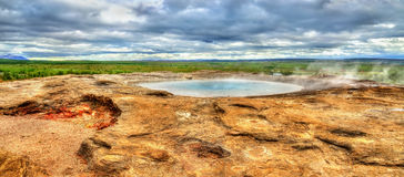 Hot springs in Haukadalur Valley - Iceland Stock Photos