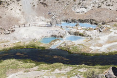 Hot springs at hot creek geological Stock Image