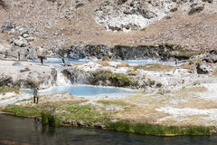 Hot springs at hot creek geological Stock Photo