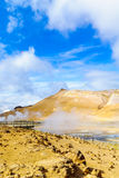 The hot springs in Hverarond Stock Image
