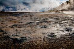 Hot Springs i Myvatn Royaltyfria Bilder