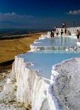 Hot Springs i Pamukkale, Turkiet arkivbild