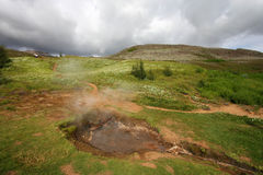 Hot springs in Iceland Royalty Free Stock Photography