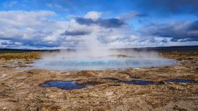 Hot springs iceland stock photos