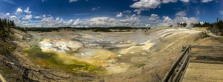 Hot springs in Yellowstone stock images