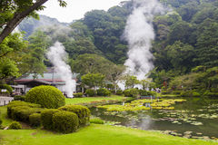 Hot springs in Japan Stock Photo