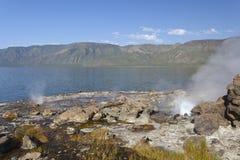 Hot springs at Lake Bogoria in Kenya. Royalty Free Stock Photos
