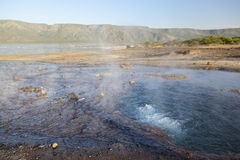 Hot springs at Lake Bogoria in Kenya. Stock Photos