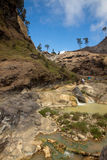 Hot springs at the Mount Rinjani Volcano, Lombok, Indonesia. Hot springs with yellow water near Mount Rinjani volcano, Lombok, Indonesia Stock Images