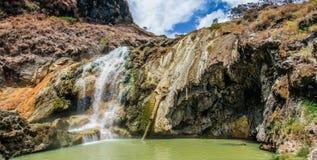 Hot Springs - Mt Rinjani vulkan, Lombok, Indonesien arkivfoto