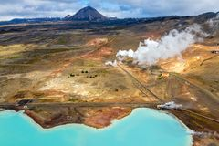 Myvatn Geothermal Area, Iceland royalty free stock photography
