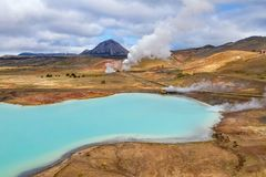 Myvatn Geothermal Area, Iceland royalty free stock images