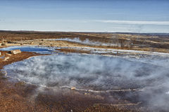 Hot springs near Strokkur Geysir Royalty Free Stock Photo
