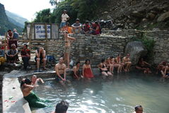Hot springs in Nepal Royalty Free Stock Image