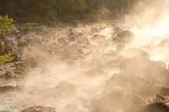 Hot springs in Northern of Thailand. Royalty Free Stock Photos
