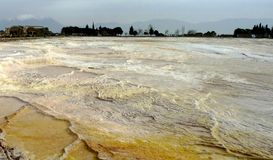 The hot springs of Pamukkale Turkey Stock Photos