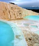 The hot springs of Pamukkale Turkey Stock Photography