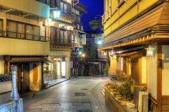 Hot Springs Resort Town Shibu Onsen Royalty Free Stock Photography