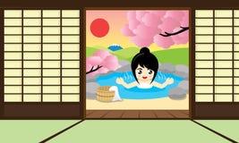 Hot Springs rum också vektor för coreldrawillustration Royaltyfri Bild