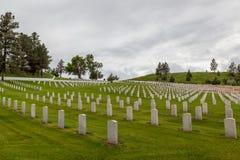 Hot Springs South Dakota nationell kyrkogård royaltyfri foto
