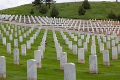 Hot Springs South Dakota nationell kyrkogård royaltyfri bild