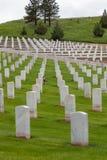 Hot Springs South Dakota nationell kyrkogård arkivbild