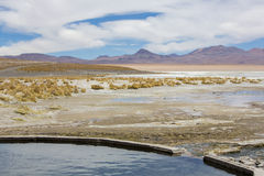 Hot springs at the Termas de Polques, Bolivia Royalty Free Stock Photo