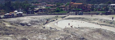 The hot springs of  Volcano, Sicily Stock Images
