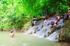 Hot springs waterfall Thailand Royalty Free Stock Image
