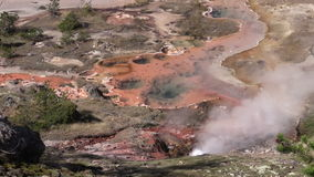 Hot Springs Yellowstone stock footage