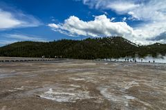 Hot springs in Yellowstone stock photography