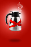 Hot Stainless electric kettle Stock Photo