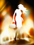 Hot standing woman Stock Images