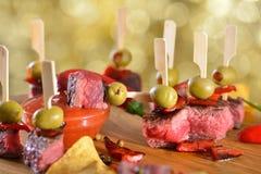 Hot steak tapas Royalty Free Stock Photo