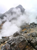 Hot Steam by Geothermal. I shoot this photo in Hakone, Japan. The smelly hot steam is coming from underground thermal springs Royalty Free Stock Photography