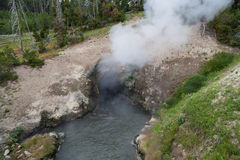 Hot Steam Volcanic Cave Stock Photography