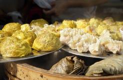 Hot steamed dumpling,chinese buns,pork bun Royalty Free Stock Images