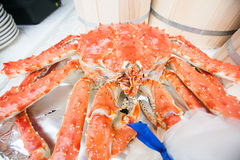 Hot Steamed king Crab Royalty Free Stock Photography