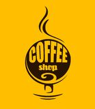 Hot steaming coffee banner Royalty Free Stock Images
