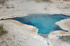 Hot Steaming Mineral Spring. Yellowstone National Park Wyoming Royalty Free Stock Image