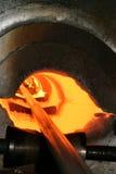 Hot steel Stock Image