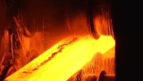 Hot steel stock footage