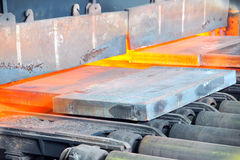 Hot steel in oven Stock Photography
