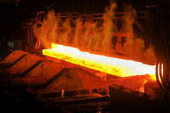 Hot steel from oven Stock Images