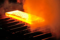 Hot steel plate Stock Photo