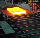 Hot steel plate Royalty Free Stock Image