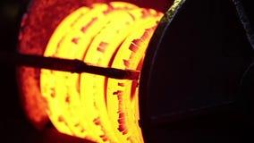 Hot Steel Spring stock video footage