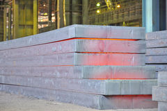 Hot steel stack Stock Image