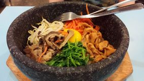 Hot stone bibimbap Stock Images